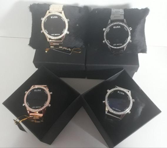 Kit C/5 Relógios Digital Unissex+caixas Atacado Lote Revenda