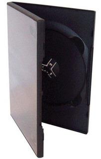 Caja Para Dvd Plastica Negra - Pack De 25 Unidades