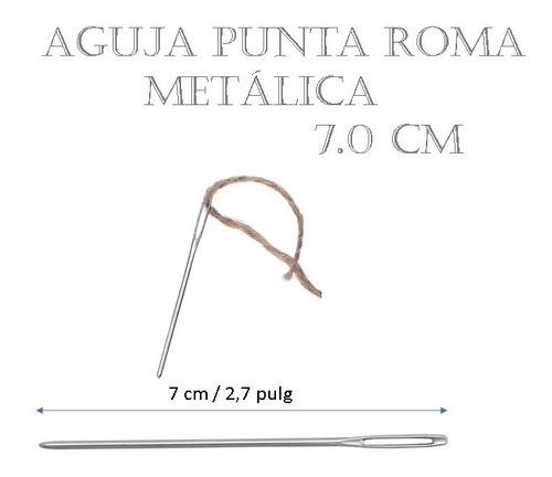 Aguja Lanera Punta De Roma Metálica 7.0 Cm