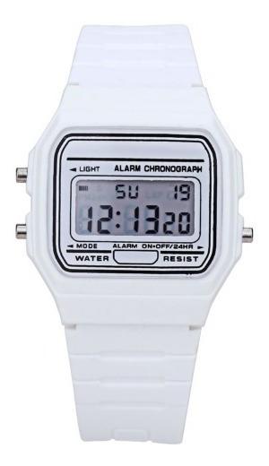 Relógio Digital Clássico Vintage Rêtro Preto Barato Unissex