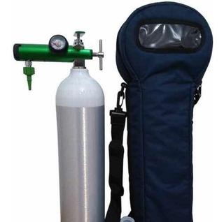Tubo De Oxígeno Ultraliviano 0,4 M3, Con Válvula Y Bolso