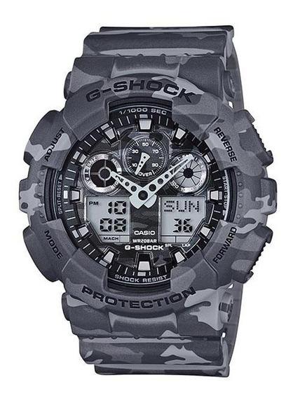 Relógio G Shock Ga 100 Camuflado Ga 100cm Original Militar