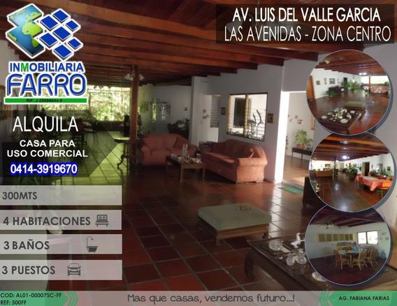 Alquila Casa Sector Centro Al01-0007sc-ff