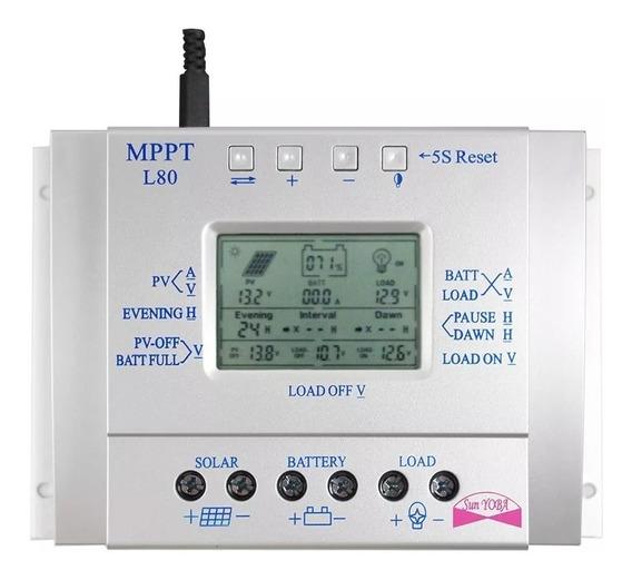 Kit Controlador Carga Mppt 80a Solar 12v 24v