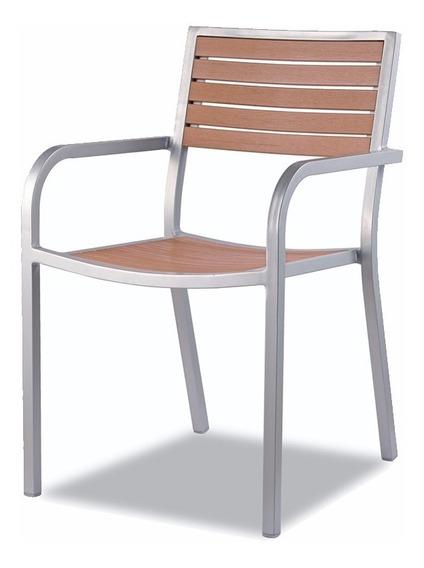 Silla Para Comedor Aluminio Y Polywood Roqueta By Promobel