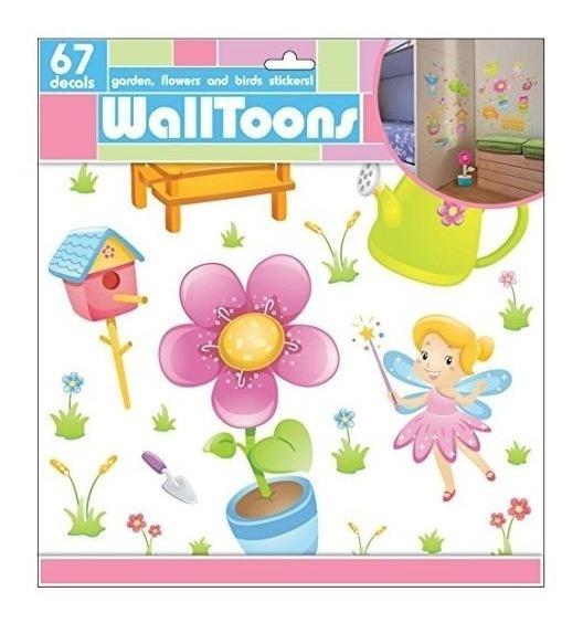 Edge Home Products Garden Girls Walltoons Etiqueta De La Par