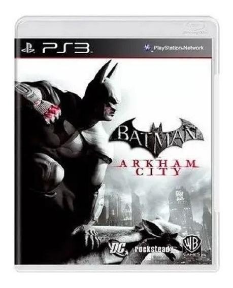 Jogo Ps3 - Batman Arkham City - Mídia Física