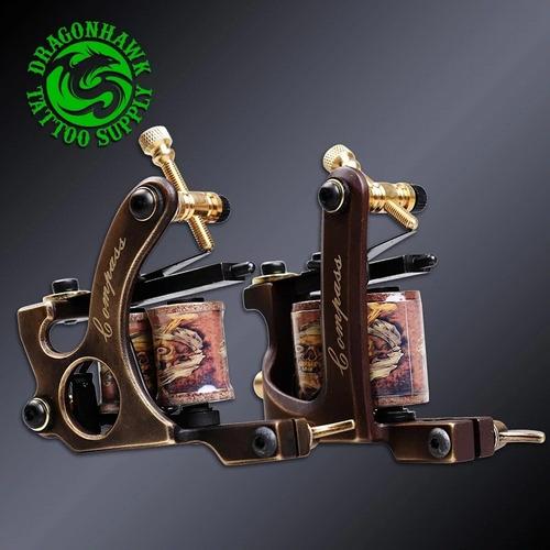 Imagen 1 de 10 de Maquinas De Bobina  Handmade Dragónhawk Compas Tattoo Tatuar