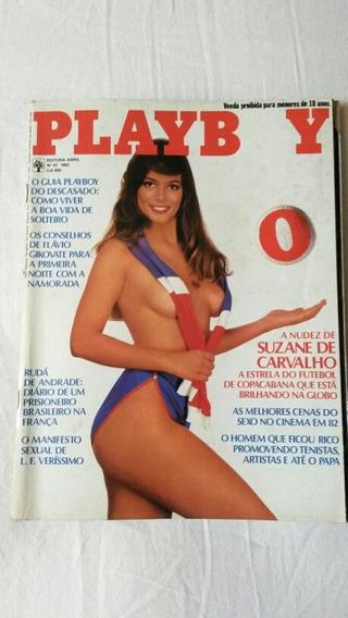 Revista Playboy Antiga Com A Suzane De Carvalho 1982 .
