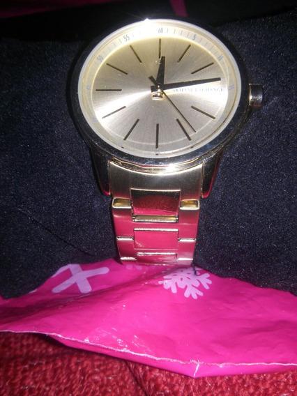 Reloj Mujer Armani Eschange Nuevo Original. (color Oro)