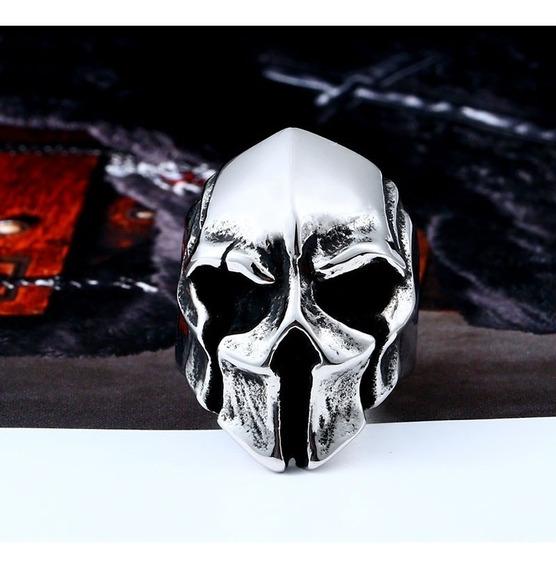 Anel Máscara Celta Aço 316l Aro 32