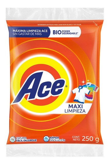 Ace Detergente Regular De 250 Gr