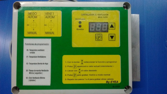 Controlador De Ventilación Velocidad Variable Y Bomba Riego