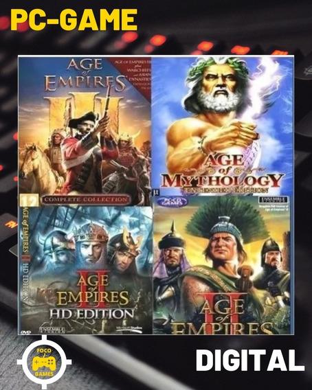 Promoção Todos Os Age Of Empires + Expansões + Mythology