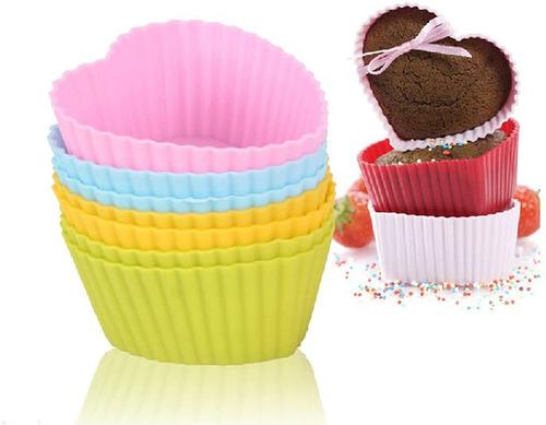 Molde De Silicona Cupcakes Corazones Individuales X 12u 5082