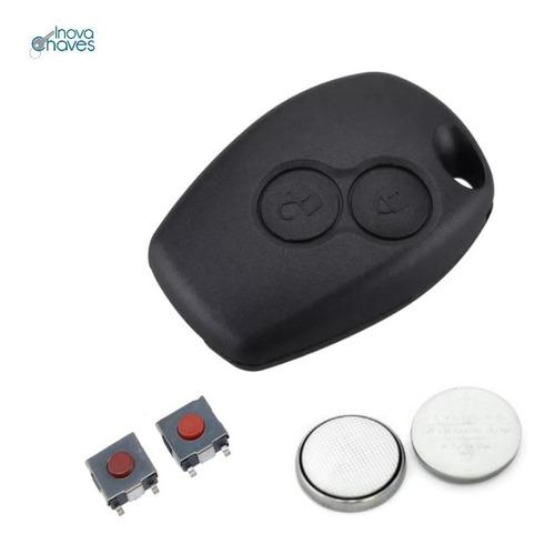 Capa Chave Renaul Logan Sandero Duster C/ Bateria E Botões