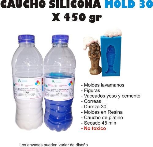 Caucho Silicona Liquido Mold 30 Moldes X450g Estampas