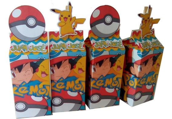 Caja Lechera Dulcero 30 Pz Pokemon Pikachu