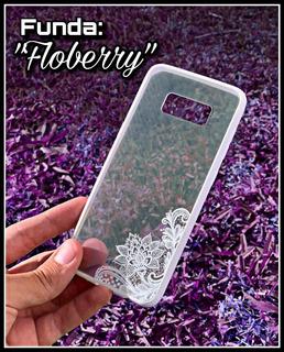 Funda Diseño Mandala Flores Transparente Samsung S8 Original
