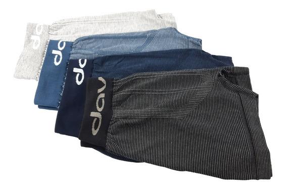 Bóxer Davor Underwear Pack X4 - Rayado Algodón / Seamless