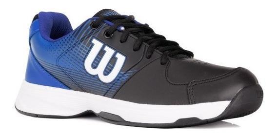 Tenis Wilson Ace Plus - Masculino Preto E Azul