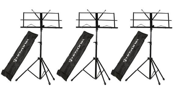 Kit C/3 Estantes Partitura Pedestal Suporte Sp100 Hayonik