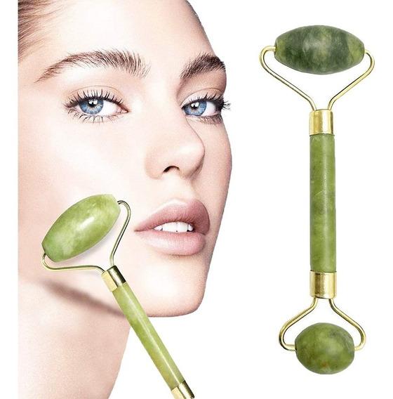 Rodillo Masaje Facial De Jade Roller Antienvejecimiento