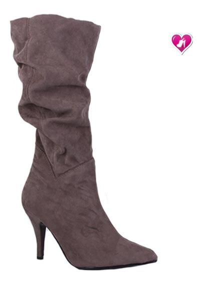 Bota Caña Alta De Montar Mujer Modelo Aton De Shoes Bayres