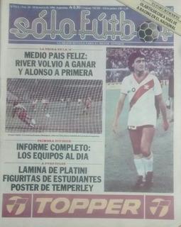 Solo Futbol N°28 Figuritas Estudiantes(lp),poster Temperley