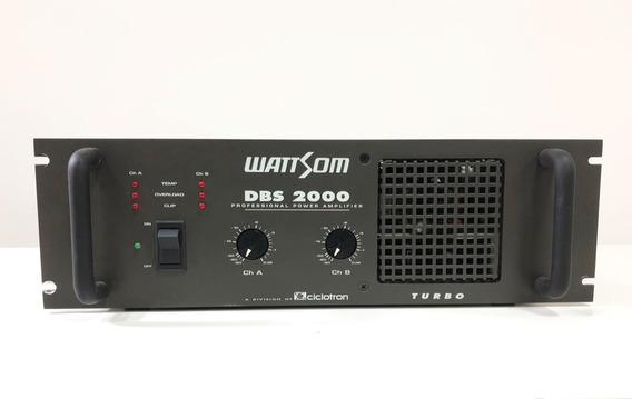 Amplificador De Potência Wattsom Dbs2000 Turbo