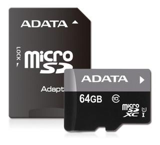 Memoria Micro Sd Uhs-i U1 Adata Ausdx64guicl10-ra Memdat2380