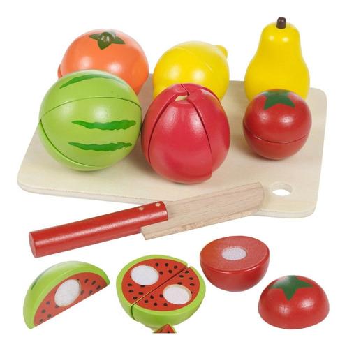 Acool Juego Fruta De Madera Para Cortar Con Velcro Ac7631