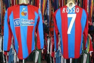 Catânia 2004 Camisa Titular Tamanho G Mangas Longas #7 Russo