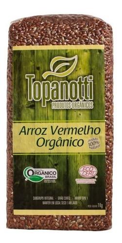 Arroz Vermelho Integral Orgânico Topanotti 1kg