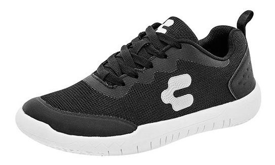 Sneaker Urbano Textura Sint Negro Niño Charly C65009 Udt