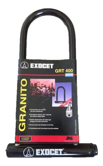 Traba U Exocet Granito Grt 400 Candado Linga Motos Freeway
