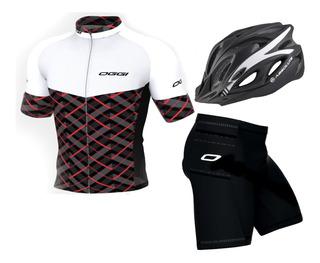 Capacete Camisa Bermuda Ciclismo Oggi Elite Agile 2019