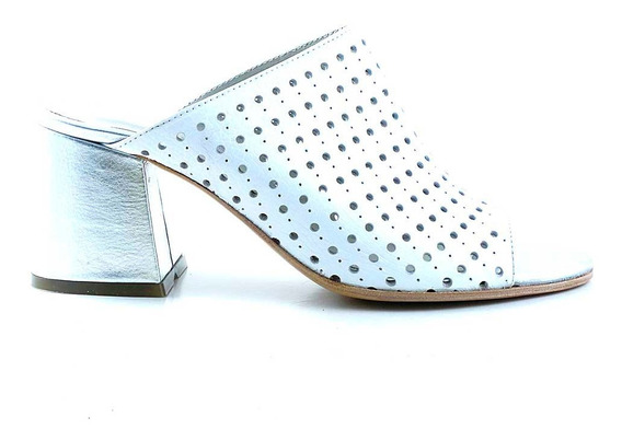Zueco Zapato De Vestir Cuero Briganti Mujer Taco - Mcsu48038