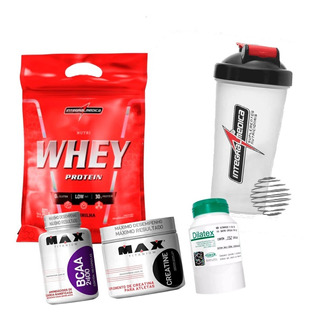 Nutri Whey + Bcaa 2400 + Dilatex + Creatina + Shaker