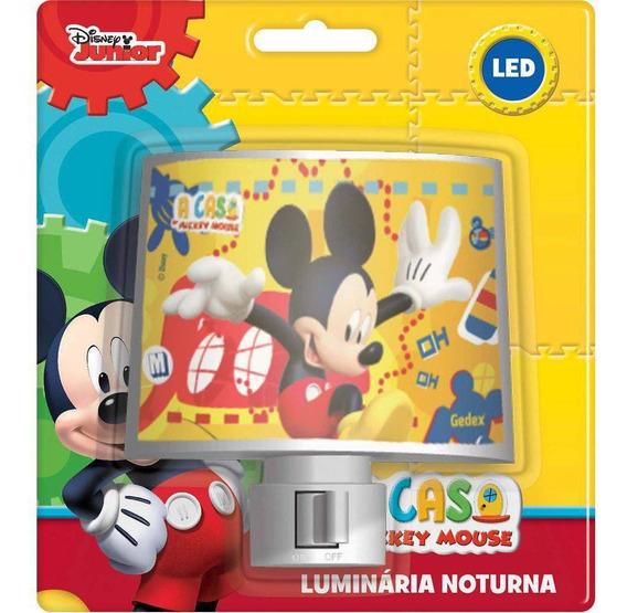 Abajur Luminaria De Tomada Bivolt Com Lampada De Led Mickey