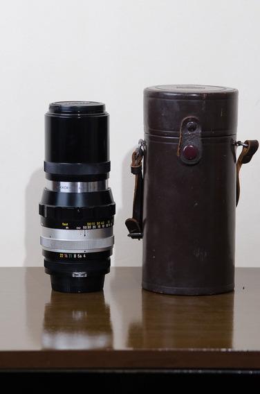 Lente Nikon Nikkor 200mm F4 De Colecionador Com Case