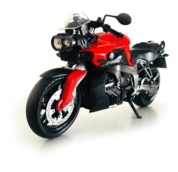 Moto Juguete Metal R1800c C/luz Y Sonido Colección Mo00226