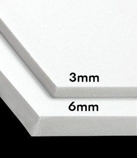Sintra Pvc Plancha 6mm Rotulación Acrilico Material 1.2x2.4m