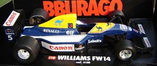 Burago - Formula 1 / Fw14 Williams - Nigel Mansell / 1/18