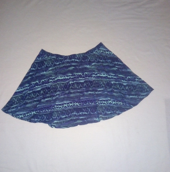Falda Plisada Circular Corta Diseño Tribal Talla Xl Plus