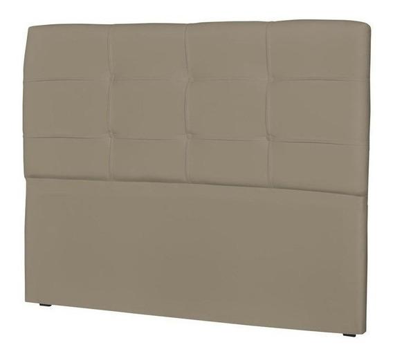 Cabeceira de cama box JS Móveis London Casal 140cm x 106cm Couro sintético areia