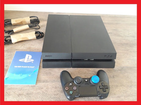 Playstation 4 500gb + 17 Jogo + Ps4 Original Bivolt Fat Slim
