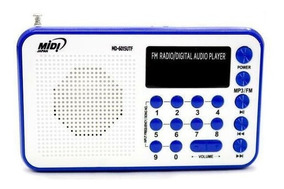 Radio Midi Japan Md-6015utf Azul Entrada Usb Sdcard Novo!