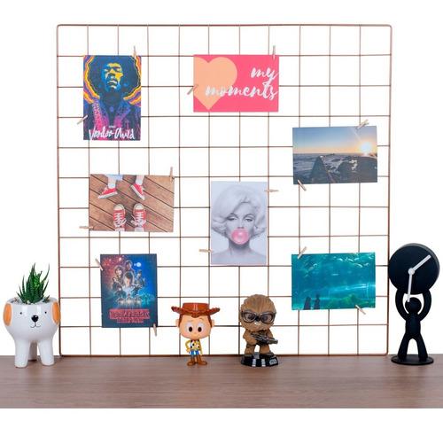 Memory Board 60x60 Rose Gold Mural De Fotos Gratis Prendedor