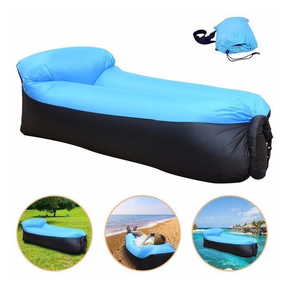 Colchón Inflable Lazy Bag Con Almohada Incluida